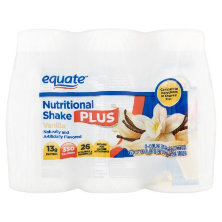 Vainilla Nutritional Shake Plus 8 onzas fluidas 6 ct