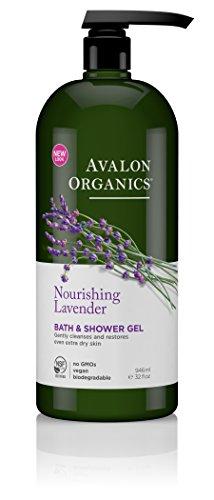 Avalon Organics baño y Gel de ducha, lavanda, 32 onzas de líquido de alimentación