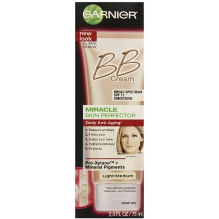 Skin Renew piel milagro Perfector Anti-Envejecimiento BB Cream SPF 15 Light - Medium 250 oz (Pack de 3)