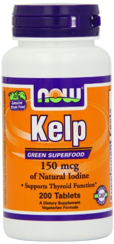 Ahora alimentos algas, 150mcg de yodo Natural, 200 tabletas