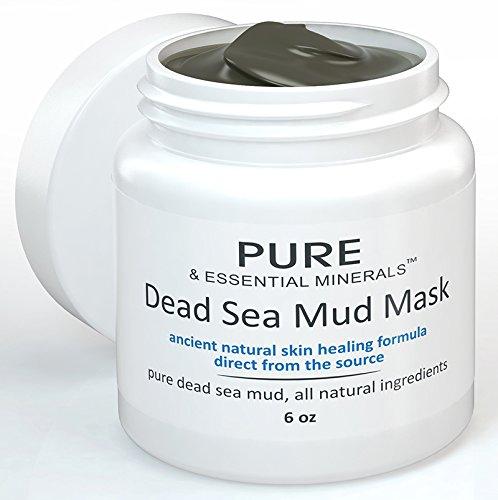 MEJOR Máscara Facial del fango del mar muerto + EBOOK gratis - limpieza de acné y poros reduciendo Anti envejecimiento mascarilla para claro, piel radiante - 6 oz