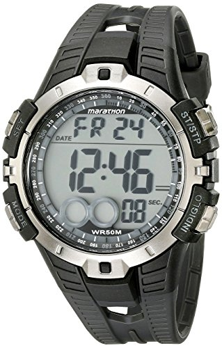 Timex T5K802M6 maratón Digital negro Watch de Men