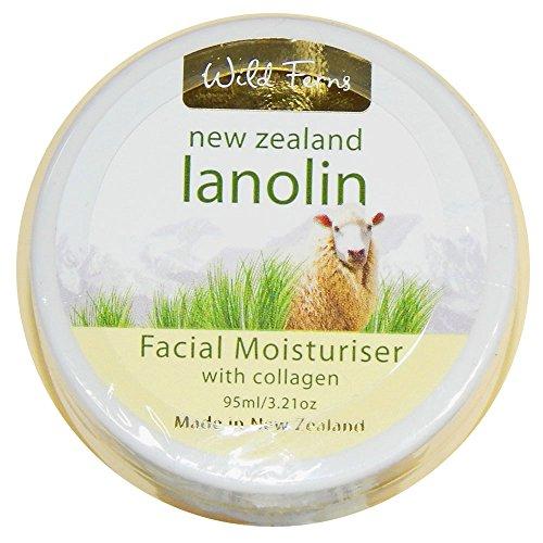 Lanolina y colágeno crema de cara por helechos salvajes