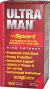 Vitamina mundo Ultra hombre deporte diario Multi vitaminas, 180 cápsulas