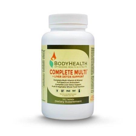 Completa Multi - Hígado Detox Soporte 120 comprimidos. Multivitamínico completo en una base de 16 alimentos integrales