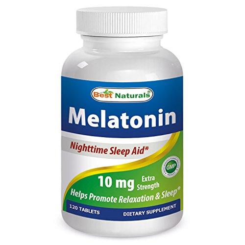 Melatonina 10mg 120 fichas--fuerza--disuelto rápidamente eficacia temprana--todos naturales dormir ayuda suplemento--fabricados en un E.e.u.u. instalación de certificados de GMP en y tercero ha probado su pureza. Garantizado!!!!