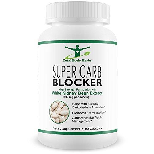 Ultimate Carb Blocker para pérdida de peso y supresor del apetito con blanco Extracto de haba de riñón (bloqueador de carbohidratos) *** incluye Garcinia Cambogia (quemador de grasa de vientre) y vinagre de sidra de manzana (supresor del apetito) para obt