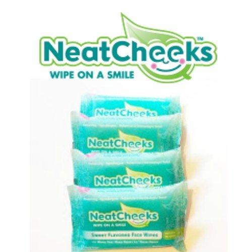 El Original NeatCheeks con sabor a bebé cara toallitas para pieles sensibles - como se ve en el tanque del tiburón! 12 paquetes de viajes de Conde (caso 4)