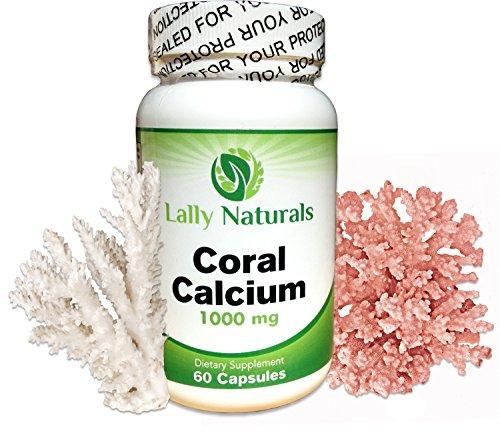 Coral calcio más vitamina D3 ★ 1000 mg ★ (60 cápsulas) proporciona natural iónica formas de calcio, magnesio y los oligoelementos.
