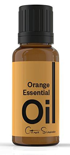 Aceite esencial de naranja Cielune - 100% puro, Natural frío presionado - grado terapéutico - Ideal para aromaterapia - utilizado como antiinflamatorio, antiséptico, antidepresivo, afrodisíaco, diurético, sedante, insecticida - remedio Natural para mejora