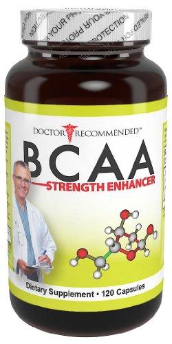 Potenciador de fuerza BCAA - médico recomendado - 120 cápsulas - 1000 mg por porción - con 3 ramificada aminoácidos de cadena - nutricional suplemento proporciona óptima nutrición