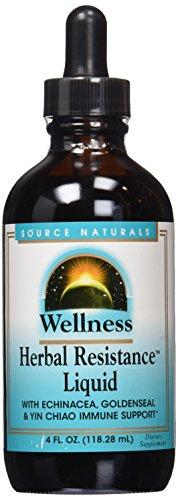Source Naturals bienestar hierbas resistencia líquido, 4 onzas