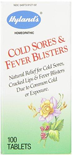 Herpes labial y ampollas febriles alivio tabletas, alivio Natural calentura, cuenta 100 de Hyland's