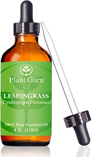 Aceite esencial de Lemongrass ★ ★HUGE 4 oz ★ grado terapéutico ★ 100% puro y Natural ★ con cuentagotas de cristal