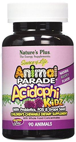 De naturaleza más - Animal desfile Acidophikidz, 90 tabletas masticables sabor Berry, libre de Gluten