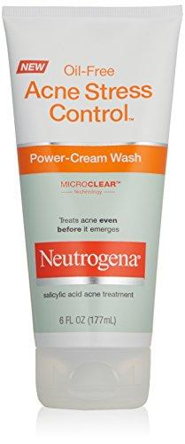 Neutrogena Oil-Free Acne Stress Control potencia crema lavado, 6 onzas (Pack de 3)