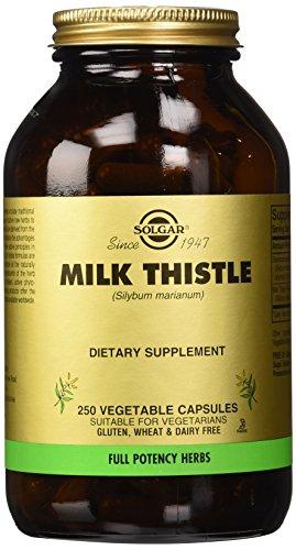 Solgar Full potencia leche cápsulas vegetales de cardo, cuenta 250