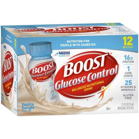 Control de Glucosa Muy vainilla Bebida Nutricional 240ml 12 Frascos