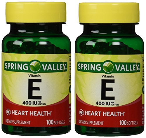 Spring Valley - vitamina E 400 IU, 200 cápsulas, Twin Pack