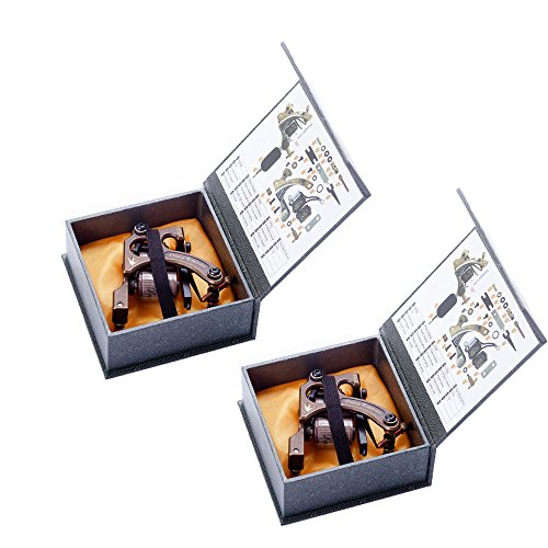 Getbetterlife® Danny Robinson 2 tatuaje ametralladora como trazador de líneas y sombreado en hermosas cajas de