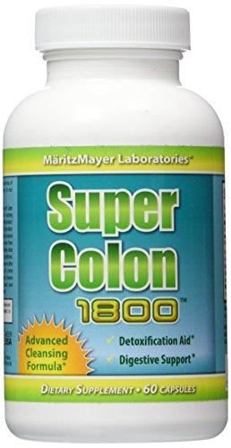 Super Colon 1800 Max fuerza peso pérdida Detox limpieza Natural con fruta de Acai e hinojo Seeds1 botella 60 cápsulas por la botella