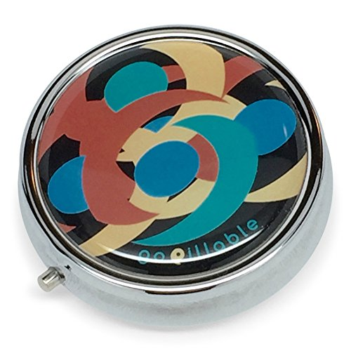 gopillable medianoche remolino decorativa caja de la píldora para el bolsillo o bolso