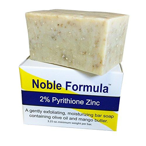 Noble fórmula 2% jabón de piritiona de Zinc Bar Oz 3,25, manteca de Mango (vegana) - mano a mano en los E.e.u.u., especialmente formulado para las personas con Psoriasis, Eczema, piel seca y sensible