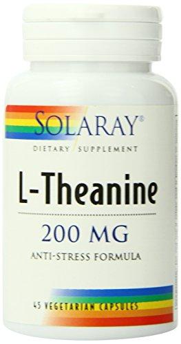 Suplemento de Solaray L-teanina, 200 mg, cuenta 45