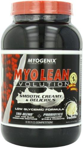 Evolución de Myogenix Myo-lean, botella vainilla, 2,31 libras