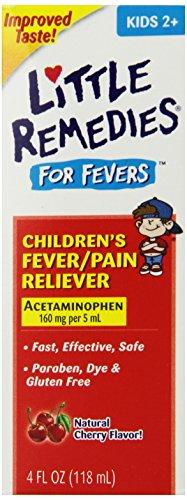 Pequeños remedios niño fiebre/analgésico, sabor cereza, 4 onzas