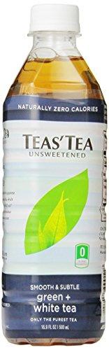 Té de infusiones, té verde y blanco sin azúcar, 16,9 onzas (Pack de 12)