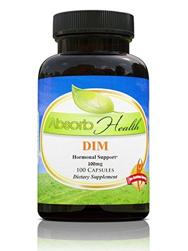 Diindolilmetano DIM   100mg   100 cápsulas   Suplemento de equilibrio hormonal estrógeno para hombres y mujeres