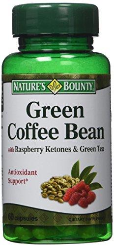 Recompensas naturalezas verde café con cetonas frambuesas y té verde cápsulas, cuenta 60