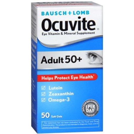 Ocuvite 50+ adulto vitaminas y minerales 50 Cápsulas x 6 Frascos