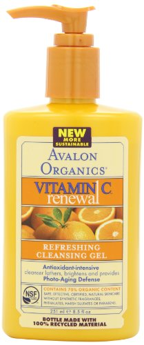 Avalon Organics vitamina C renovación, Limpiador Facial, 8,5 onzas