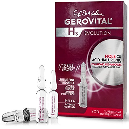 GEROVITAL H3 EVOLUTION, ácido hialurónico ampollas con superóxido dismutasa (el Anti-Aging súper enzima) 30 + (10 ampollas x 2 ml) (sólo para uso externo!)