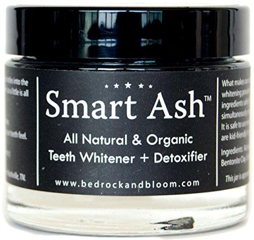 Smart ceniza orgánica todo el polvo de diente que blanquea Natural con carbón activado y bentonita arcilla - blanquea, desensibiliza, desintoxica - seguro alternativo pasta dental para dientes sensibles (1)