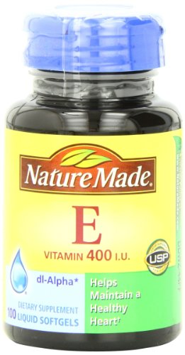 Naturaleza hecha vitamina E 400IU, 100 Softgels (paquete de 3)