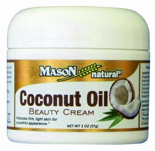 Masón de crema de belleza natural de aceite de coco, 2 onzas (paquete de 2)