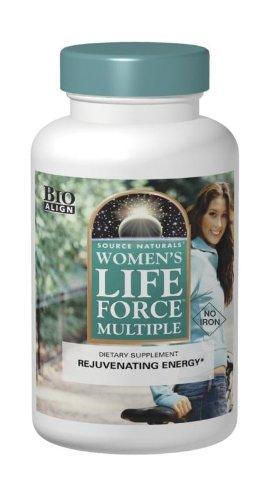 Vida de la mujer de Source Naturals fuerza múltiples sin hierro, 180 comprimidos