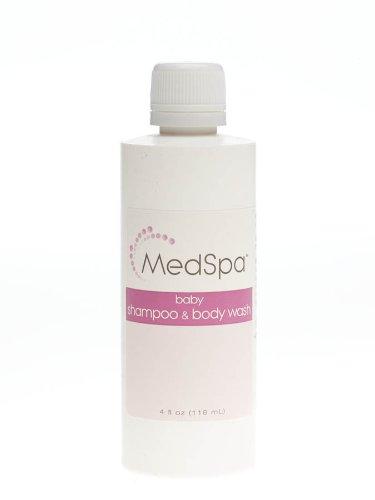 MEDLINE Industries MSC095020 MedSpa champú para bebés y adultos, 4 onzas (paquete de 60)