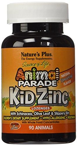 De naturaleza Plus - pastillas de Kidzinc-mandarina, sin gluten, vegetariano, cuenta 90