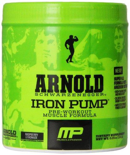 Muscle Pharm Arnold Schwarzenegger serie hierro de la bomba, limonada de la frambuesa, 30 porciones, 6,35 oz