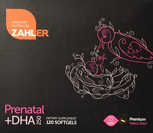Vitamina prenatal + DHA 250mg - cápsulas dos veces al día Premium - ZAHLER (2 meses de suministro)