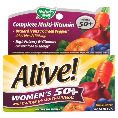 Alive- Una vez Femenino Diario 50 de multivitaminas - multiminerales 50 ct