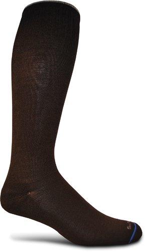 Calcetin de compresion de circulador Sockwell mujeres, pequeñas y medianas, negro sólido