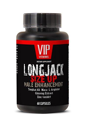 Tamaño de Longjack 2170mg - realce masculino con Maca, Ginseng Tongkat Ali, L-arginina y Zinc - testosterona Natural - Premium calidad (1 botella 60 cápsulas)
