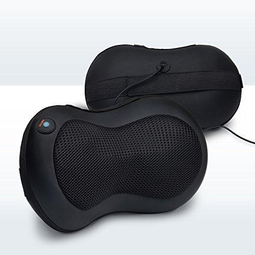 LiBa cuello y masaje de espalda Cojín con bola caliente y cargador de coche