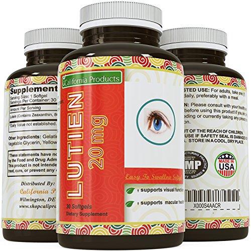 FLORALGLO luteína zeaxantina de suplemento para la visión avanzada fórmula Natural de apoyo - general ojo salud vitamina - - Estados Unidos de productos California