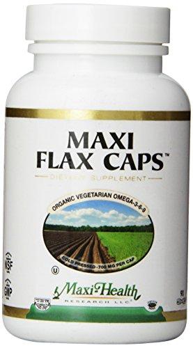 "Salud Maxi lino - aceite de linaza - Omega de vegetariano orgánico 3-6-9 - ""700 mg"" - 90 cápsulas - Kosher"